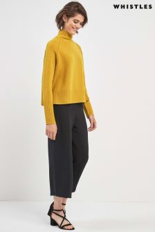 Whistles Black Cropped Trouser