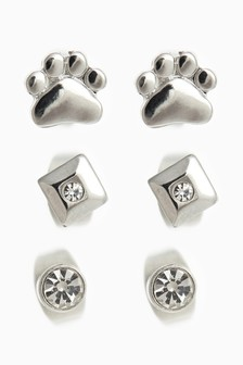 Pawprint Stud Earring Pack
