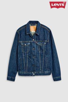 Jachetă trucker din denim prespălat Levi's® închisă la culoare