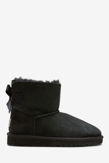 UGG® Black Mini Bailey Bow II Boots