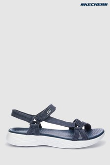 Skechers® Blue On The Go 600 Brilliancy Navy Strap Sandal 4314f1b44
