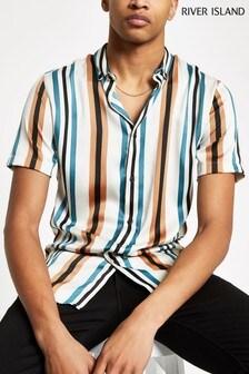 חולצה צבעונית עם פסים של River Island בצבע קרם