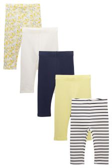 Cropped Leggings Five Pack (12mths-6yrs)