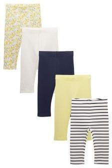 Pack de cinco leggings capri (12 meses-6 años)