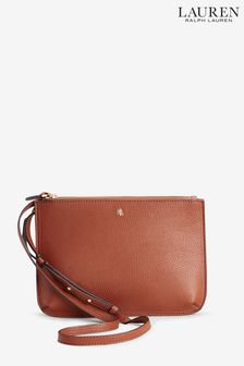 Lauren Ralph Lauren® Tan Vegan Leather Carter Cross Body Bag