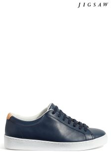 Jigsaw Blue Amour Lace Up Trainer