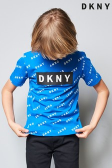 DKNY Blue Printed T-Shirt