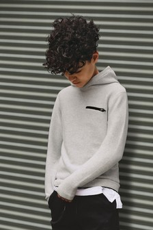 Longline Ripple Stitch Hoody (3-16yrs)