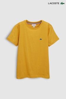חולצת טי קלאסית של Lacoste® דגם Darjeeling בצהוב