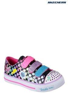 Skechers® Black Twinkle Toes Shuffles Poppin Posse Ombre Shoe