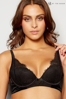 B by Ted Baker Black Bold Lace Plunge Bra