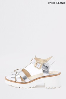 River Island Silver Chunky Sandal