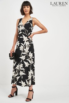 Lauren Ralph Lauren® Black Floral Sleeveless Dress