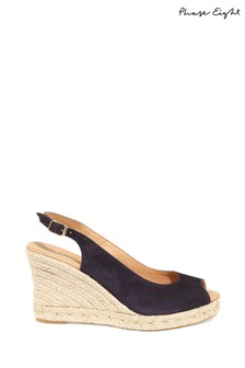 Phase Eight Blue Whitney Wedge Shoe