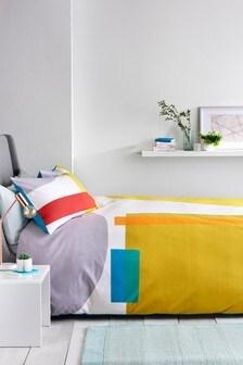 Colourblock Panel Bed Set