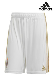 adidas White Real Madrid FC 19/20 Short