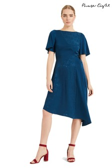 Phase Eight Blue Jamie Jacquard Dress