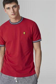 Pique Lion Badge T-Shirt