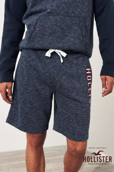 Hollister Navy Jersery Logo Short