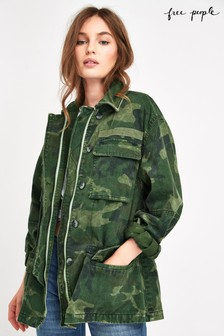 Free People Camo Seize The Day Jacket