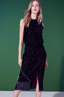 Платье миди с эффектом травления Animal