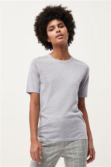 Short Sleeve Merino Sweater