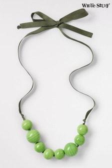 White Stuff Green Ceramic Bead Necklace
