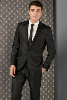 Slim Fit Paisley Jacquard Suit