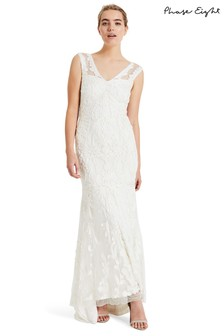 Phase Eight Cream Valerie Tapework Wedding Dress