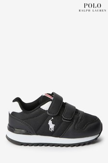 Polo Ralph Lauren Black Toddler Oryion Trainers