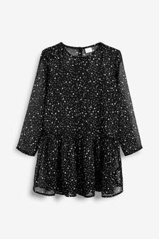 Printed Chiffon Dress (3-16yrs)