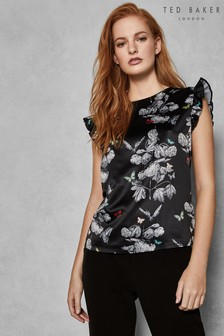 0b499ddd5 Ted Baker Black Narnia Short Sleeve Blouse