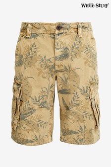 White Stuff Green Dartmoor Printed Cargo Shorts