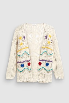 Crochet Embroidered Cardigan (3-16yrs)