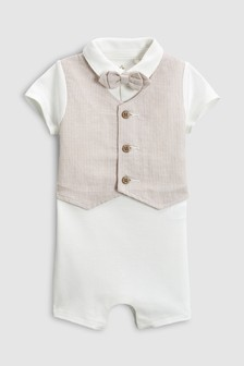 Smart Short Sleeve Romper (0mths-2yrs)