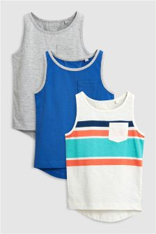Stripe Vest Three Pack (3mths-6yrs)
