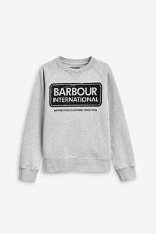Barbour® International Grey Logo Boys Sweater