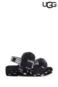 UGG® Black Oh Yeah Spot Sandal Slippers