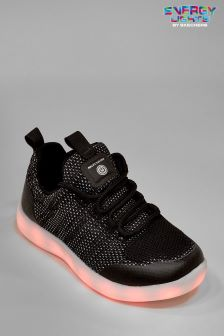 Skechers® Black Energy Lights Street Lace Up Shoe