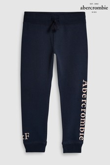 Abercrombie & Fitch Navy Logo Jogger