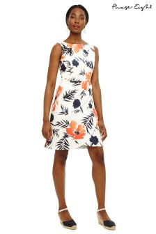 Phase Eight Ivory Multi Juana Print Dress