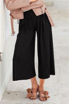 Jersey Side Pleated Culottes
