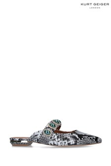 Kurt Geiger London Grey Priscilla Snake Print Shoes