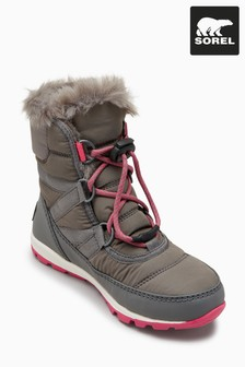 Sorel® Grey Pink Short Lace Youth Whitney Boot