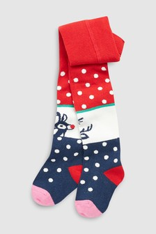 Rudolph Christmas Tights (Younger)