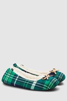 Tartan Ballerina Slippers
