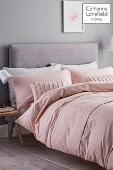 Conjunto de funda de edredón y funda de almohada con diseño de pompones de Catherine Lansfield