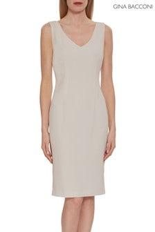 Gina Bacconi Pink Merna Crepe Shift Dress