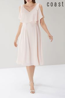 Coast Pink Imana Midi Dress