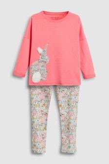Floral Bunny Legging Pyjamas (3-16yrs)